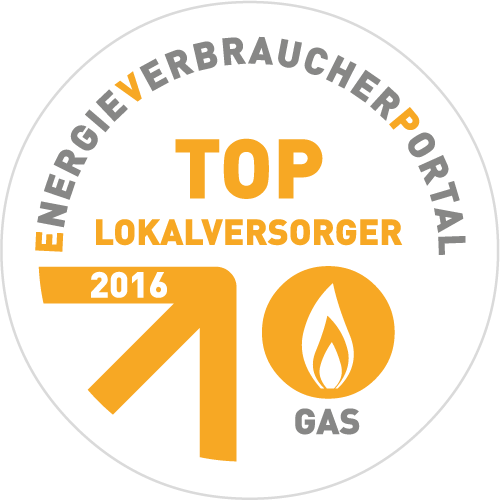 Top-Lokalversorger 2016 - Gas